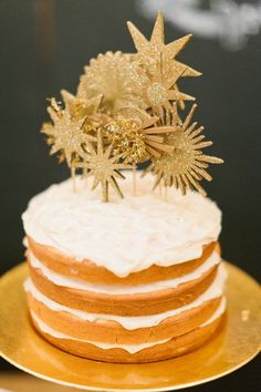 DIY Wisconsin Winter Wedding - Fun Cake Toppers  Photography by