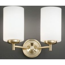 Franklite Decima Satin Brass 2-Lamp Wall Light
