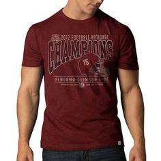 '47 Brand Alabama Crimson Tide 2012 BCS Football National Champions Crimson Scrum T-Shirt - $11.99