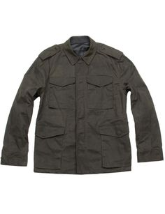 Waxed-Cotton Military Jacket