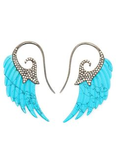 Turquoise earrings by Noor Fares as featured on our 2014 Jewellery Trend Report at www.thecutlondon.com