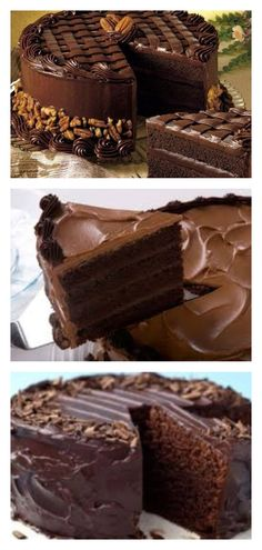 Шикарный торт «Черная магия» на кефире Torte Cake, Blondies, Cupcake Recipes, Baked Goods, Chocolate Cake, Deserts, Cooking Recipes, Pie, Ice Cream