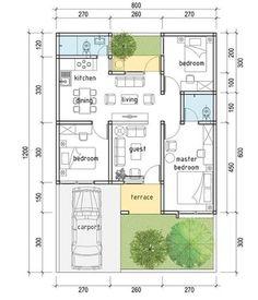 Home Design Floor Plans, Home Building Design, Home Room Design, Small House Design, Building A House, Unique House Plans, Contemporary House Plans, New House Plans, House Floor Plans