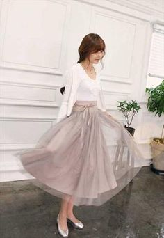 BALLET STYLE PALE BEIGE COLORED LAYERS SKIRT