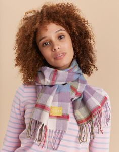 Joules Bracken Womens Woven Checked Scarf- Pastel Check Tweed Joules Uk, Checked Scarf, Womens Scarves, Plaid Scarf, Birthstones, Tweed, Pastel, Style, Fashion