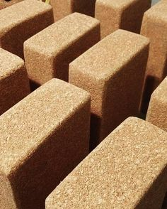 Prisma][ blocks by Corchetes® made of cork