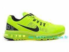 sports shoes d02b6 9f836 Official Nike Air Max+ 2013 - Chaussure de Course à Pied Pas Cher Pour  Homme Volt Blanc-Noir