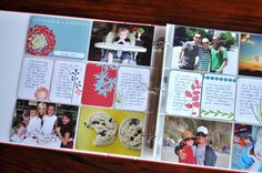 Projectlife.com- simplest form of scrapbooking EVER. No cropping, trimming, glueing, punching... Beautiful scrapbook pages that are not only organized and easy to enjoy, but still very custom because of your photos and your written memories. I WANT THIS!!