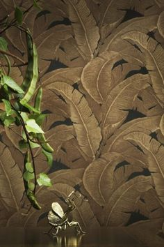 Teide Tropical Leaves Wallpaper - Darks - Wallpaper