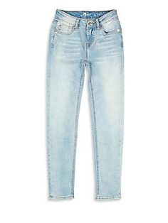 7 For All Mankind Girl's Skinny Jeans - Light Blue - Size