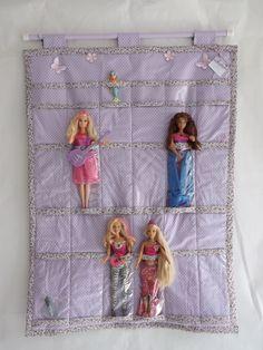 Porta Barbie da loja Fazendo Coisas ELO7, muito fofo