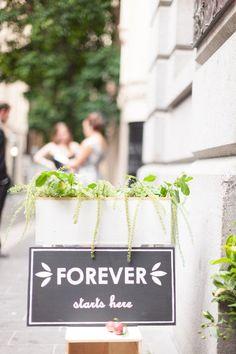 #signs  Photography: Stewart Leishman Photography - stewartleishman.com Floral Design: Flowers Vasette - flowersvasette.com.au  Read More: http://www.stylemepretty.com/australia-weddings/victoria-au/melbourne/2012/03/23/melbourne-wedding-by-stewart-leishman/