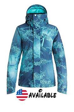 B01LYTOGS9 : Roxy Snow Junior's Wilder Printed 2l Gore-Tex Tailored Fit Snow Jacket Cloudofdots L. Snow jacket. Gore tex 2L #Apparel #OUTERWEAR