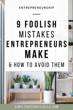 Mistakes To Avoid on Your Entrepreneurial Journey Online Entrepreneur, Business Entrepreneur, Business Marketing, Entrepreneur Ideas, Business Planning, Business Tips, Online Business, Business Opportunities, Best Entrepreneurs