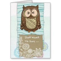 Greeting Card  -  Just Want To Say, blue
