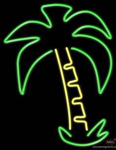 Palm Tree Logo Real Neon Glass Tube Neon Sign,Affordable and durable,Made in USA,if you want to get it ,please click the visit button or go to my website,you can get everything neon from us. based in CA USA, free shipping and 1 year warranty , 24/7 service