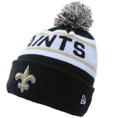New Orleans Saints Big Fan Redux Knit Cap Beanie with Pom