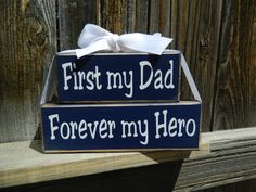 Fathers day wood blocksFirst my Dad Forever by BuzzingBeesCrafts, $13.00