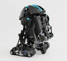 DIY LEGO Astromech Droid shaped like R2D2
