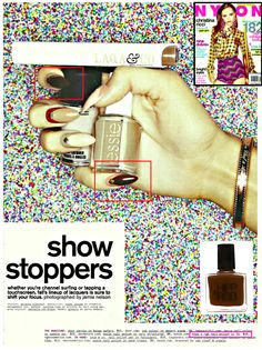 Nail Foundation in featured by Hampel Magazine Jenna Hipp, Half Moon Manicure, Celebrity Nails, 80s Design, Pointy Nails, Nail Blog, Nails Magazine, Essie, Stamping