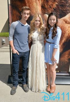 Olivia Holt with Austin North and Piper Curda