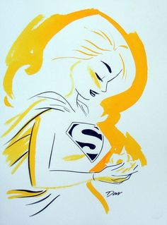 I LOVE THIS Supergirl sketch - Darwyn Cooke: Supergirl Sketch Comic Art
