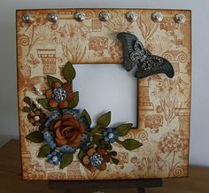 Altered picture frame..  Love the colors on this one!!