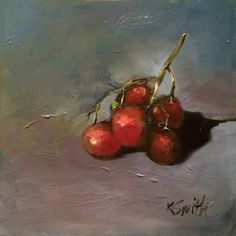grapes, original oil painting by kim smith