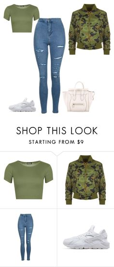 """""""Untitled #691"""" by kylie100 ❤ liked on Polyvore featuring WearAll, Topshop, NIKE and CÉLINE"""