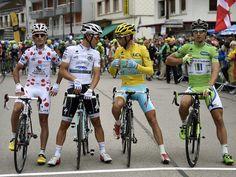 Tour de France stage nine: the jerseys. #TDF2014 #TDF #socialpeloton