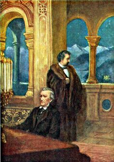 Konig Ludwig Ii Und Richard Wagner Vereint In Schloss Neuschwanstein Gemalde Http Www Koenig Ludwig Schloss Neuschwans Schloss Neuschwanstein Ludwig Bayern