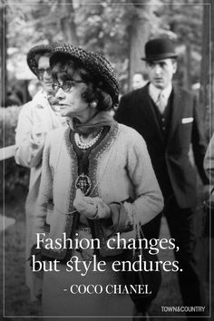 Coco Chanel famously lived her life according to her own rules. Her musings on elegance, love, and life are as timeless as her classic Chanel designs. Take a look at the founder of Chanel's most memorable, inspiring, and outspoken quotes here. Fashion Designer Quotes, French Fashion Designers, Fashion Quotes, Fashion Mode, Trendy Fashion, Vintage Fashion, Fashion Trends, Hipster Fashion, Fashion 1920s