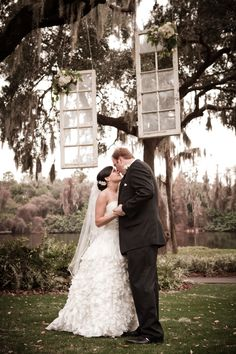 hanging vintage frames for your wedding ceremony  photo credit Oz Wroe photography