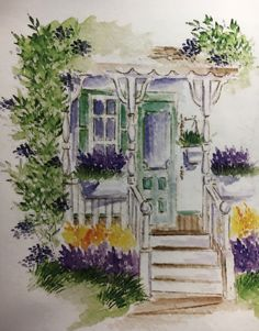 art impressions - watercolor - markers - catalog photo - country cottage