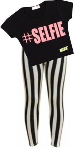 Girls Kids #SELFIE Print Crop Top & Legging Set Suit 7 8 9 10 11 12 13 Years: Amazon.co.uk: Clothing