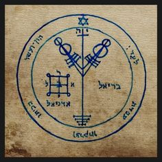 """4th Pentacle of Jupiter Talisman from The Key Of Solomon the King (Clavicula Solomonis). In which it is said that it """"serveth to acquire riches and honor, and to possess much wealth."""" Hand drawn and consecrated. Talisman and Photograph by Matthew Venus"""