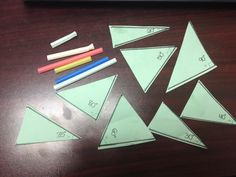 EXCELLENT review of labeling congruent triangles activity and group practice!!