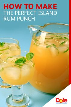 How to Make the Perfect Island Rum Punch  -  Every summer celebration needs a party punch. Simply combine all ingredients in a large punch bowl and get ready to delight guests. For an added twist, garnish with lime slices and fresh mint. Discover more delicious recipes at dolepineapplejuice.com.