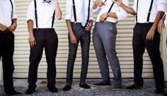 These could be my groomsmen with the vans though and all dark grey pants in the middle and blue bow ties or whatever color my girls wear hehe