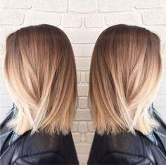 Langes Haar - Haarschnitt mit geradem Lob