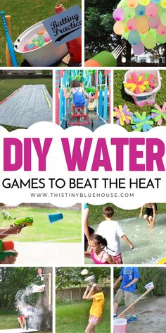 Here are 20 super fun DIY outdoor water games that are the perfect way to create hours and hours of backyard fun on the hottest summer days. fun water 20 Fun DIY Outdoor Water Games For Kids - This Tiny Blue House Summer Fun For Kids, Summer Diy, Summer Crafts, Kids Crafts, Kids Diy, Outdoor Water Games, Water Games For Kids, Outdoor Fun, Backyard Games