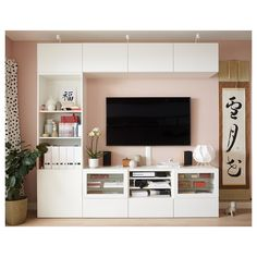 96 veces he visto estas estupendas muebles minimalistas. Tv Ikea, Living Room Tv Unit Designs, Tv Wall Design, Living Room Decor, Ikea Living Room Storage, Wall Cabinets Living Room, Living Rooms, Tv Rooms, Ikea Storage