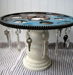 Steam punk cake stand