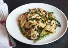 Chicken, Asparagus, and Wild Mushroom Stir-Fry - Bon Appétit