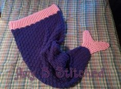 A Stitch At A Time for Amy B Stitched: Mermaid Tail Cocoon FREE Crochet Pattern