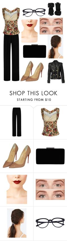 """""""Sweater Weather"""" by photogrpahyphreak on Polyvore featuring Clover Canyon, Christian Louboutin, John Lewis, Jeffree Star, Benefit, JEM and Forever 21"""