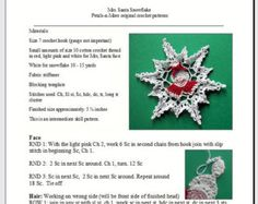 Elf Snowflake pdf crochet pattern by PetalsnMore on Etsy