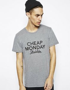 Cheap Monday Gray Tshirt with Embroidery