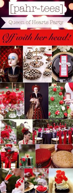 Moodboard Queen of Hearts Party | pahr-tees.blogspot.com