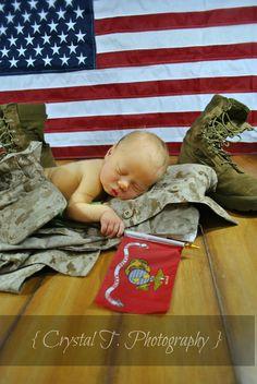 My favorite newborn photo I took of my nephew. *Marine Baby.